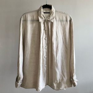 Georges Rech Synonyme 90s VTG Beige Linen Blouse